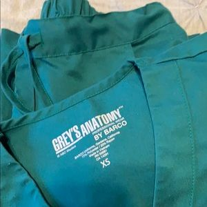 greys anatomy xs green scrubs